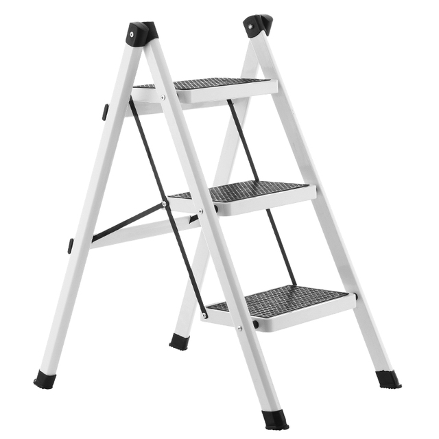 Kitchen Ladder Home Depot Island Lighting Folding Step Stool Three Thickened Iron Pipe Indoor