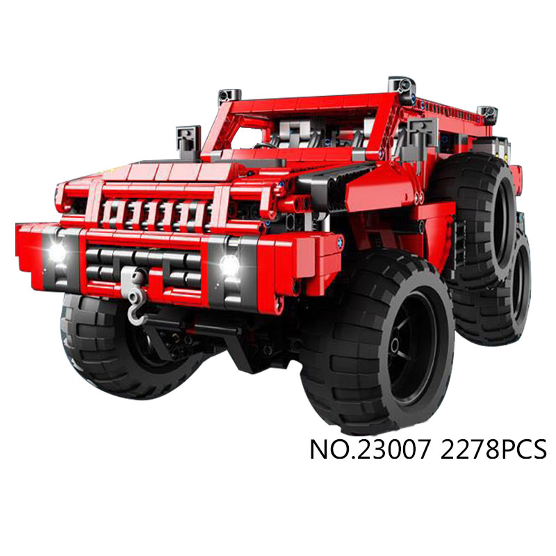 Hot Technician technics 4x4 radio remote control cars bricks red Snow cross-country 4WD moc building block rc toys collection hot technician technics extreme adventure 2in1 building block remote control tracked vehicle rc cars bricks 42069 toys for kids