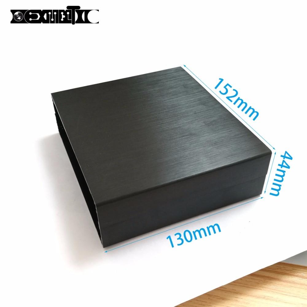 Nouvelles Arrivées 2 pcs boîtier En Aluminium projet power shell boîte PCB boîtier électronique 152X44X130mm BRICOLAGE noir NOUVEAU gros