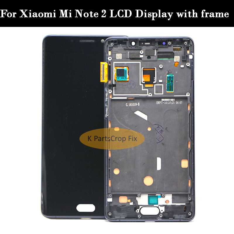 "5.7"" FHD For Xiaomi Mi Note 2 LCD Display Touch Screen with frame Digitizer Assembly Note2 lcd For Xiaomi Mi Note 2 Display-in Mobile Phone LCD Screens from Cellphones & Telecommunications    1"