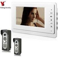 YobangSecurity Video Speaker Intercom Video Door 7 Inch Monitor Doorbell Telephone Intercom Night Vision 2 Camera 1 Monitor