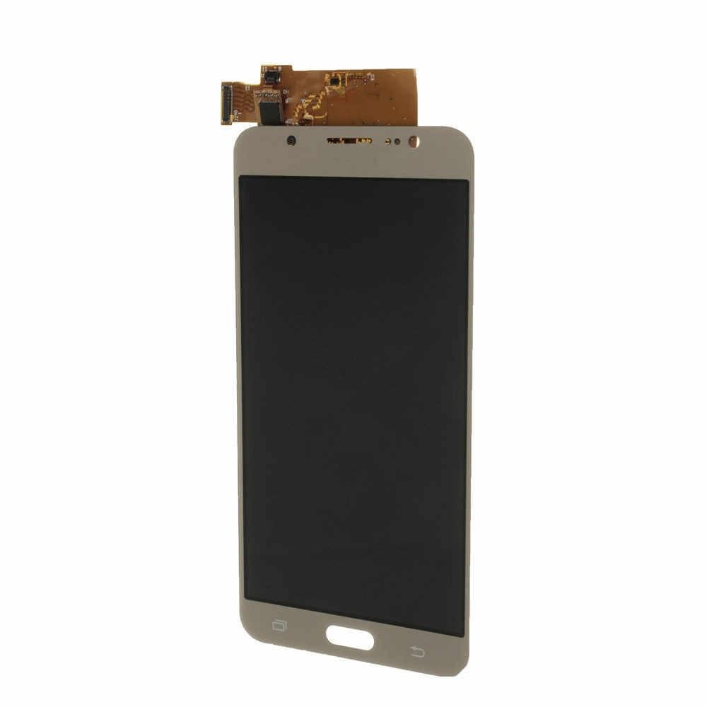 شاشة الكريستال السائل لسامسونج J7 LCD محول الأرقام بشاشة تعمل بلمس كامل الجمعية Repalcement لسامسونج J7 2015 J700 J700F J700M J700FN
