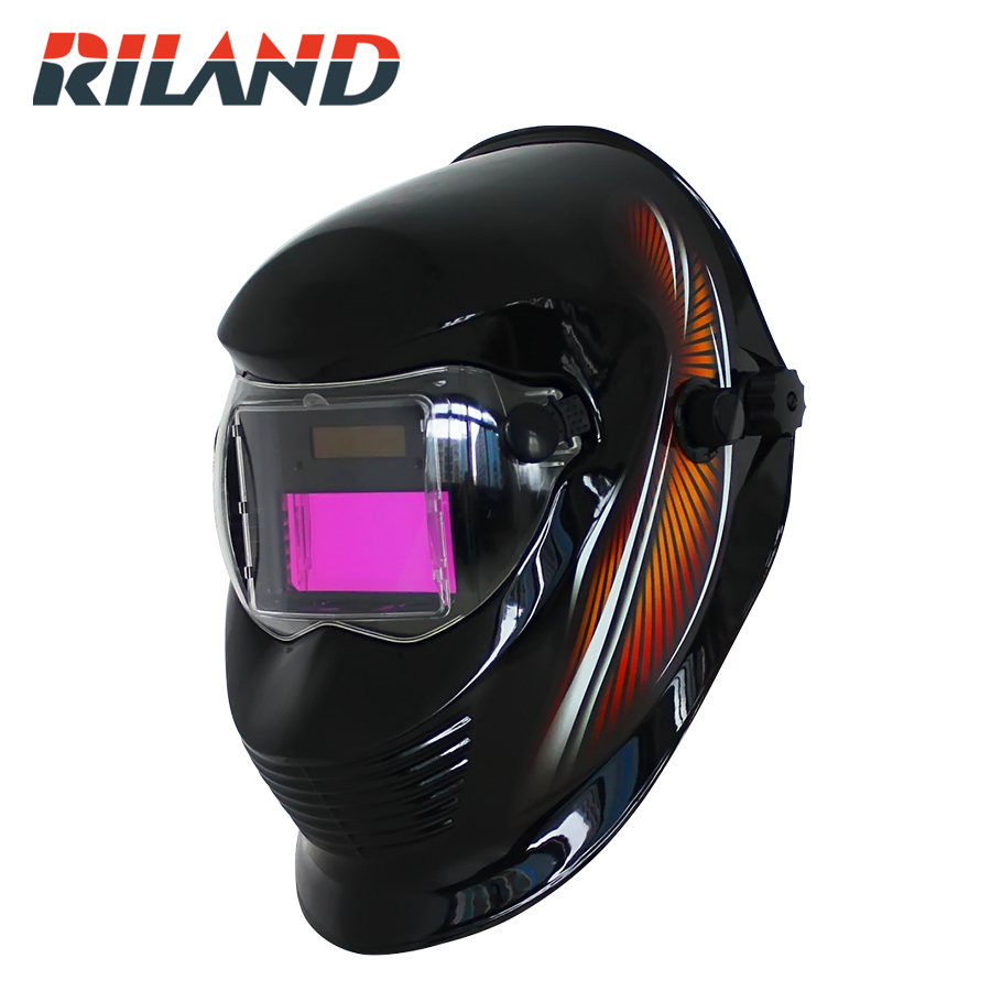 Solar Powered Auto Darkening Welding Helmet Automatic Dimming Mask Welding Cap