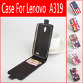 Para lenovo a319 baiwei originais 2 cartão slots flip up-down caso coldre com tampa para a319 smartphone frete grátis + número da faixa