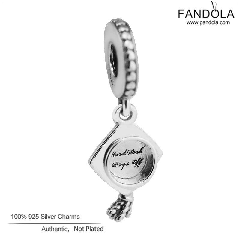 100% 925 Sterling Silber Graduation Baumeln Perlen Für Schmuck Herstellung Passend Pandora Charms Armbänder Original Silber 925 Schmuck Modern Und Elegant In Mode