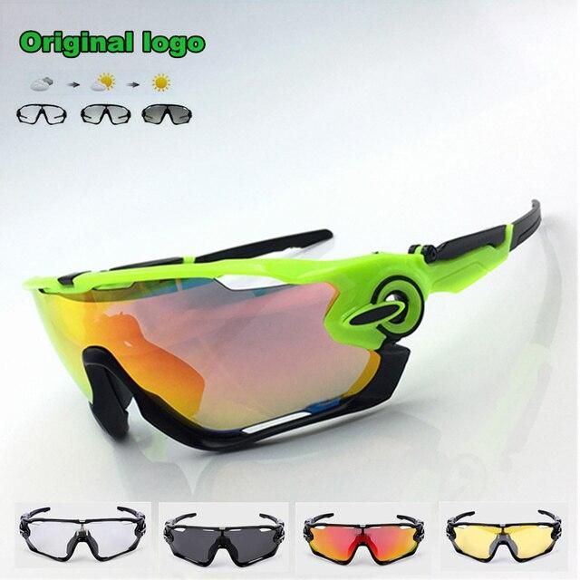 d9a245d8524833 JBR Meekleurende Fietsen Bril Mannen Vrouwen Sport MTB Mountain Road Bike  Fiets Zonnebril Eyewear UV400 kaak