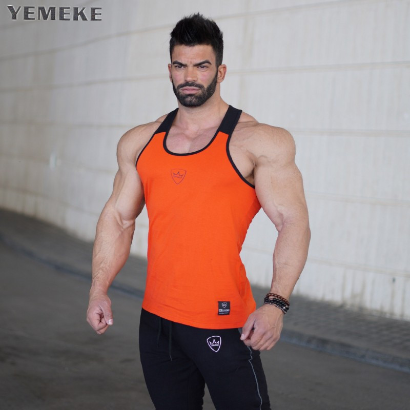 Fitness New 2018 cotton muscle shirt golds brand clothing   tank     top   men sleeveless   tops   bodybuilding stringer vest