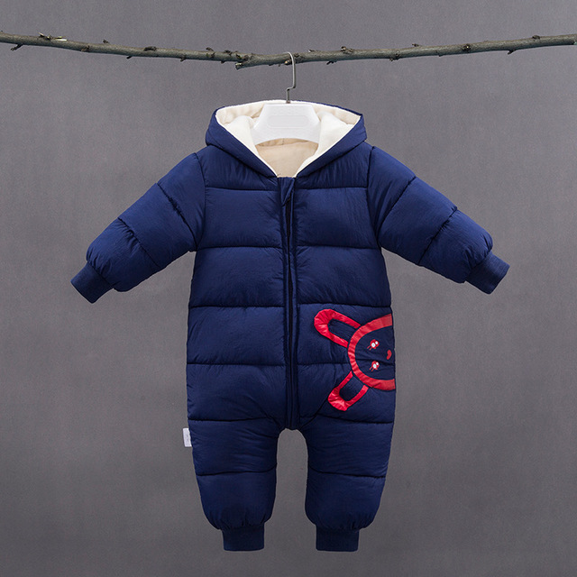 -30 degrees New Autumn Winter coat Baby wear Newborn Snowsuit Fotografia Boy Warm Romper Down Cotton Girl clothes Bodysuit 0-2Y