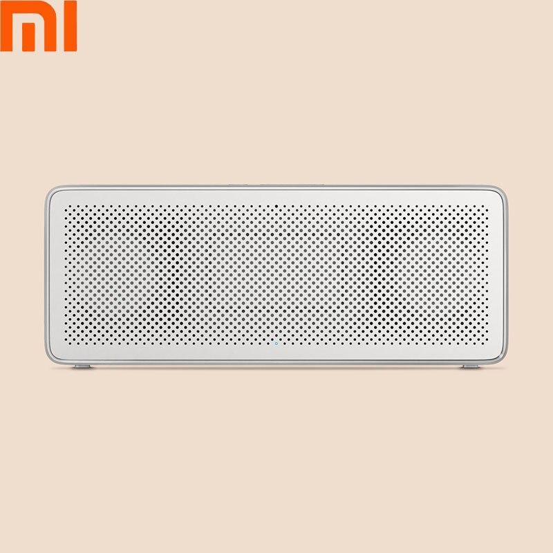 Original Xiaomi Mi Bluetooth Speaker Square Box 2 Stereo Portable Bluetooth HIFI Sound Loudspeaker Support AUX For Xiaomi original xiaomi square box bt4 0 edr speaker