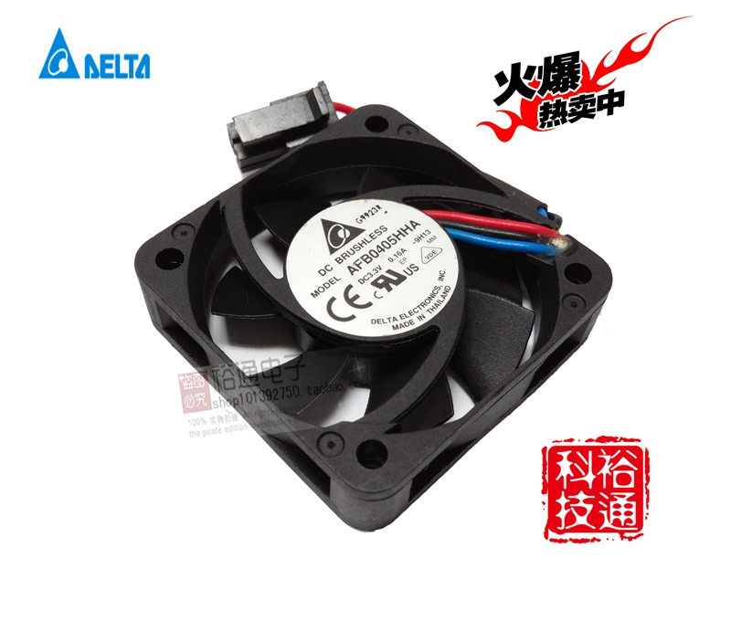 Free Shipping For Delta AFB0405HHA -9H13 DC 3.3V 0.16A 3-wire 4-pin connector 60mm 40x40x10mm Server Square Cooling Fan