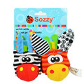 2Pcs/Set Educational Baby Toys For Children Kids Rattles Baby Socks Cartoon Animal Plush Doll Wrist Rattles 0-1 Year Christmas