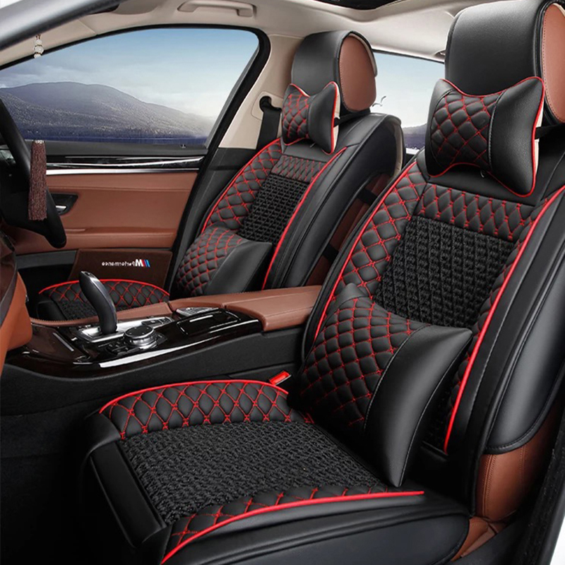 Universal Leather car seat covers For Land Rover range rover discovery freelander Sport evoque 2017 2014 car accessories styling