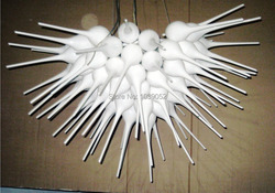 Czysty biały ręcznie dmuchanego szkła montażu podtynkowego oświetlenie sufitowe