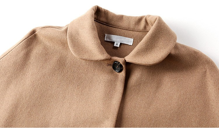 C Style Wool Cashmere Manteau Coat Skirt Suit with Bow Decoration Winter(15)