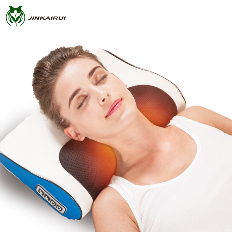 Infrared Heating Neck Shoulder Back Body Electric Massage Pillow Shiatsu Massager Device Cervical Healthy Massageador Relaxation