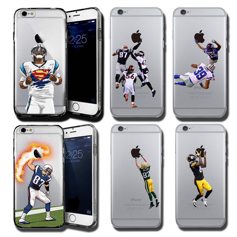 American Football Player Star Phone Case for iphone 5 5s se 6 6s 7 7 8plus Odell Beckham Jr. Cam Newton Rob Hard NFL Phone Cover