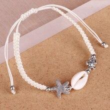 Natural Shell Beads Bracelet For Women Starfish Sea Turtle C