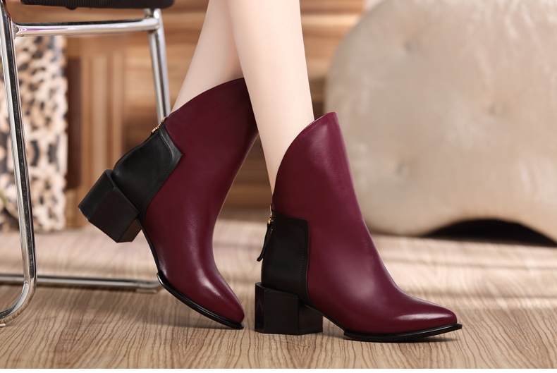 ФОТО The new large size ladies boots 40 to 43 in the autumn and winter shoes boots straight boots tube fashion women's shoes small ya