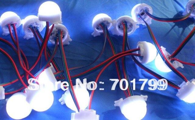 20pcs 3leds rgb pixel led module,WS2811 IC,milky cover,DC12V,30mm diameter