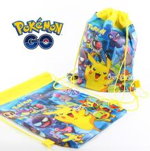 Poke mon go treasure nonwoven fabric convenient drawstring pouch debris bags Tendon Disposition