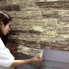 PE Foam 3D Wallpaper Home Decoration Brick Pattern Soundproof Stickers Bedroom Living Room Waterproof Self-adhesive Wall Paper