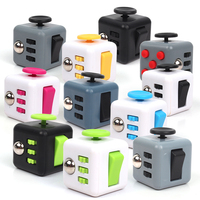 Super recommended 11 Colors Fun Fidget Cube Toy Dice Anxiety Attention Anti stress Puzzle Magic Relief Adults Funny Fidget Toys