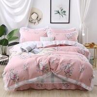 Princess pastoral Style Bedding set 4 pcs Queen size Bed set lace Quilt/Duvet cover Bedsheet set Pillowcase for girls
