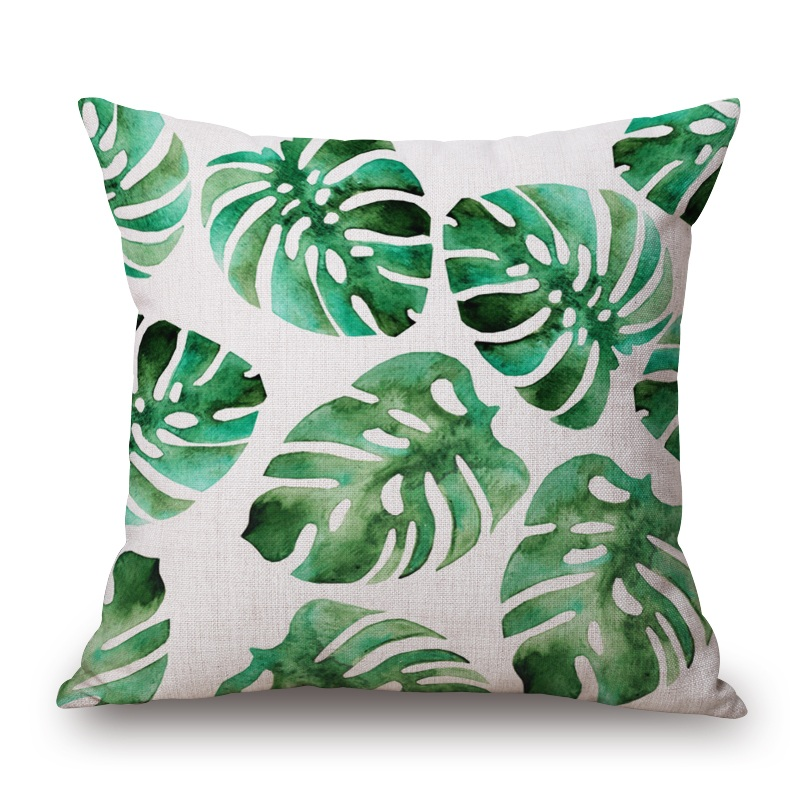 Well known Palm Leaf Cushion Covers 25 Styles Tropical Plant Cactus Pineapple  UH71