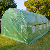 600x300x220cm Strong Steel Frame Big Greenhouse Outdoor Garden Warm Anti freeze Rain proof Flower Plants Vegetables Greenhouse
