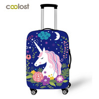 18 28 Inh Pink Suitcase Protective Covers Cartoon Unicorn Luggage Cover Elastic Travel Bag Cover Valise