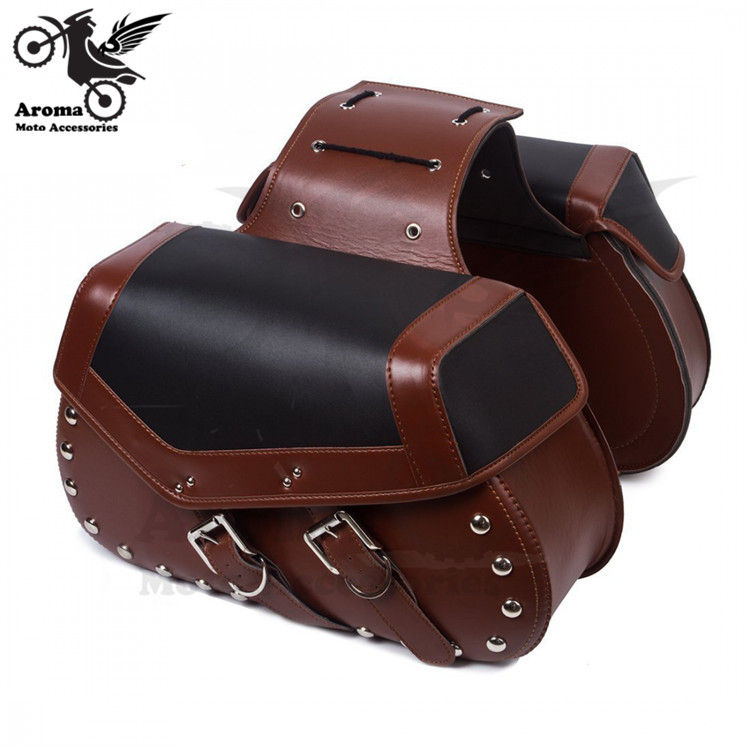 4 colors available big size motorbike side pouch rivet moto luggage bag for honda suzuki yamaha harley motorcycle Saddle Bags cucyma motorcycle bag waterproof moto bag motorbike saddle bags saddle long distance travel bag oil travel luggage case