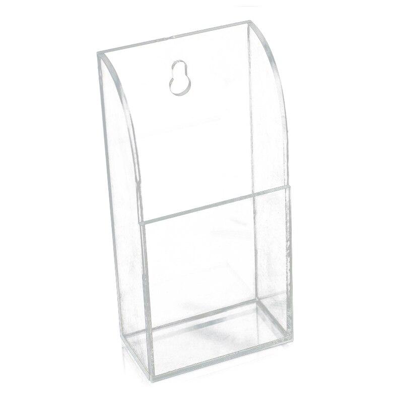 Botique TV Air Conditioner Remote Control Holder Case Acrylic Wall Mount Storage  Box(1 Case)