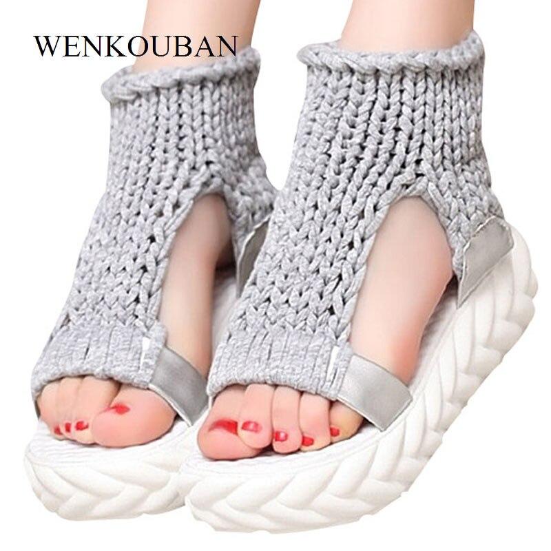 все цены на Designer Platform Sandals Women Gladiator Sandals Summer Flat Shoes Thick Heels Ladies White Sandalias Casual Zapatos Mujer
