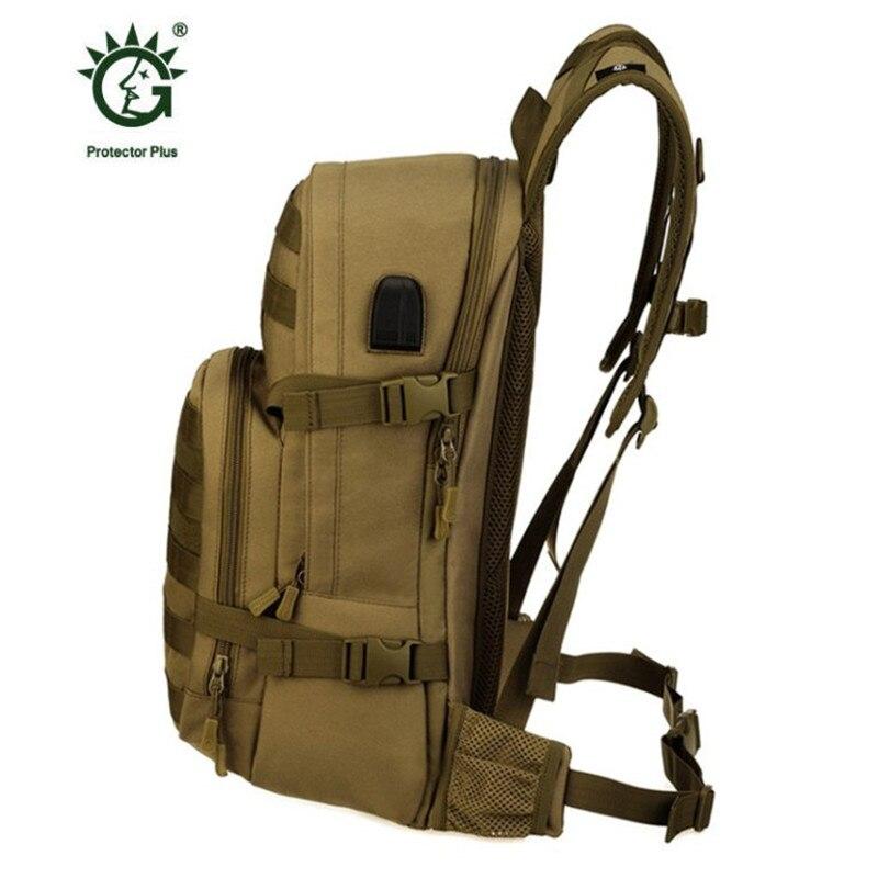 Nouveau sac homme loisirs militaires nylon étanche sac à dos de 25 litres double sac à bandoulière câble de données sac à dos rechargeable. - 4