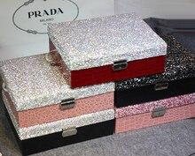 Высокая-класс шкатулки часы коробки коробка для хранения с кристаллами часы Дело Кольцо Box свадебные подарки