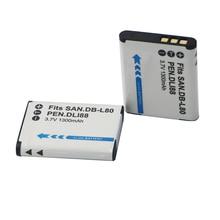 2 шт. D-LI88 D LI88 DB-L80 литий-ионная батарея для цифровой камеры DB L80 для Sanyo VPC-CG10 VPC-CG20 для PENTAX VPC-CG88 CG100