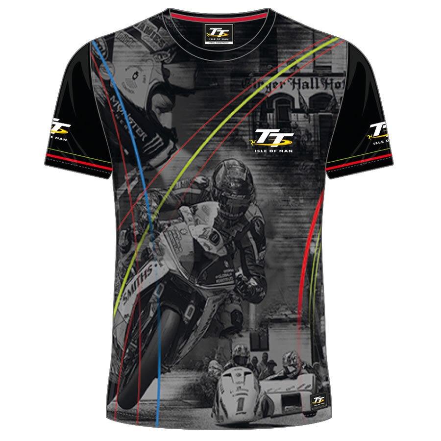 2018 MOTO GP TT racing isle of man tt races custom printed t shirt Men s Summer Mountain Course T Shirt
