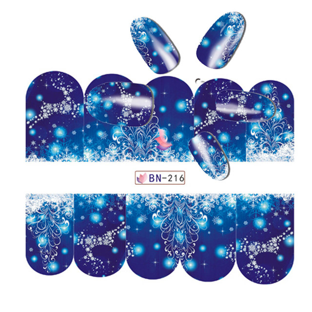 48 sheets christmas designs snowflakes xmas tips nail art sticker sets decorations watermark for new year bn205 252