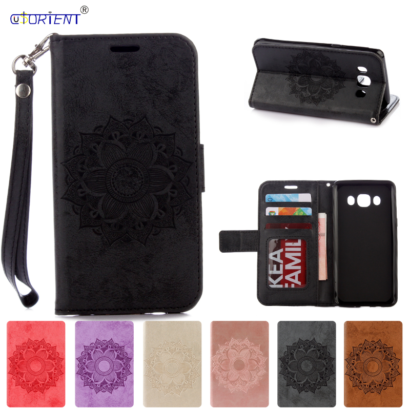 Flip Case SM-J510FN for Samsung Galaxy <font><b>J5</b></font> J 5 2016 <font><b>510</b></font> J510 J510FN SM-J510H/DS J510H/DS J510F SM-J510F Leather Wallet Case Cover image