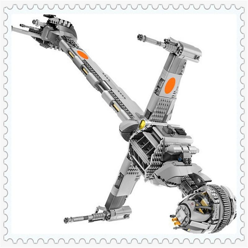 LEPIN 05045 Star Wars B-Wing Starfighter Model Building Block Compatible Legoe 1487Pcs    Toys For Children lepin 05003 star wars first order transporter building block 845pcs diy educational toys for children compatible legoe