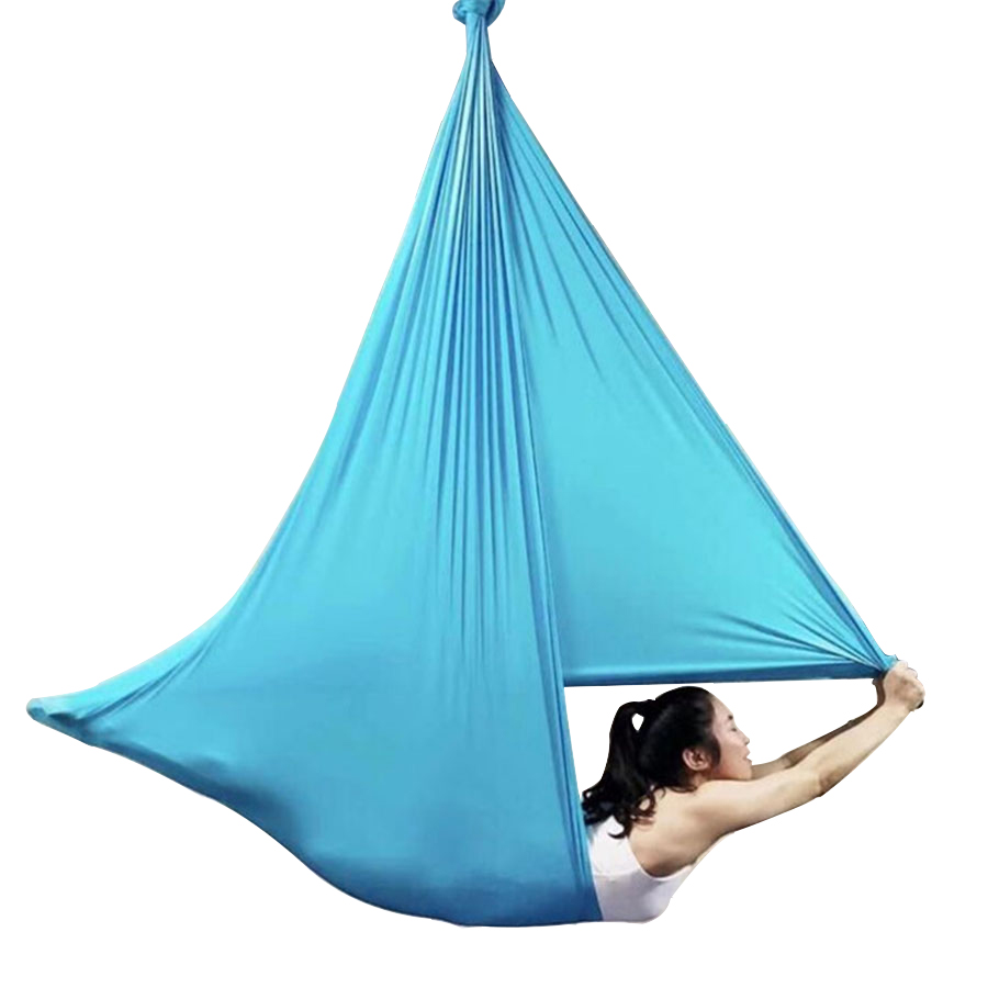 Blue Song Aerial Yoga Hammock 6 7 8 9 10meters Fabric Only & 20 Color 2.8m Width Options Anti-gravity Yoga Swing Free Shipping Sports & Entertainment