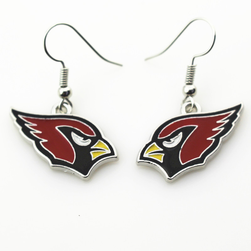 New arrive 6pair/lot Arizona Cardinals Football sports earrings women erring jewelry