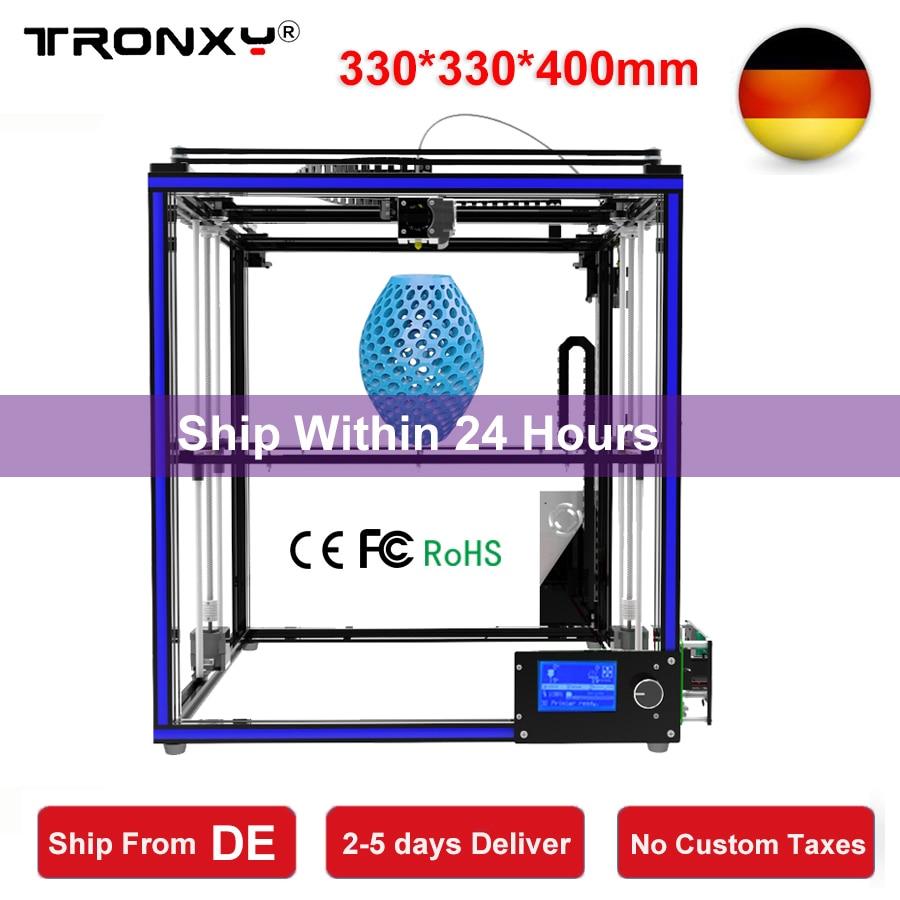 Tronxy 3D Printer I3 Impresora 3D DIY Kit Full Metal Large Printing Size 330*330*400mm LCD Screen 3D Printer 8G SD Card as gift tronxy x3s 330 x 330 x 420mm fast installation 3d printer