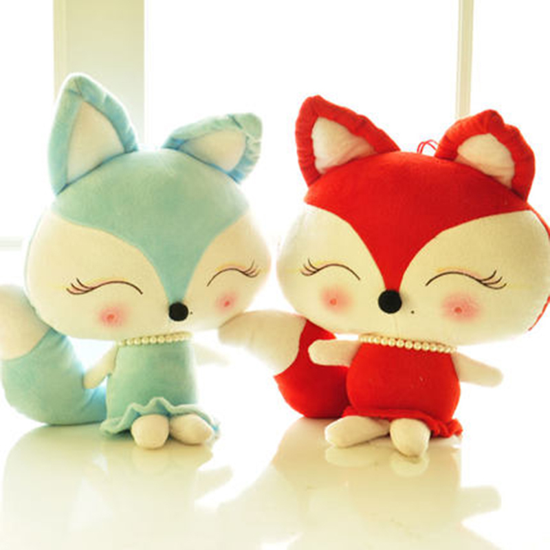 Soft Toys 30/40/50cm Lovely Fox Plush Toys Kawaii Stuffed Animal Dolls  Couple Foxes Valentine Day Birthday Gift In Stuffed U0026 Plush Animals From  Toys ...