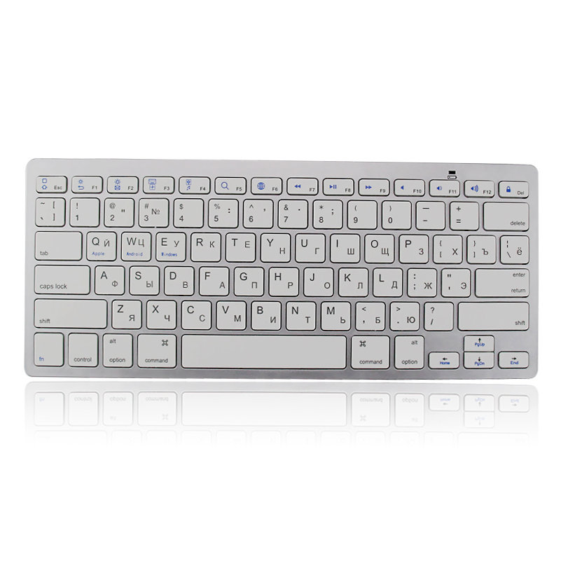 Wireless Bluetooth keyboard For Russian Keyboard Layout Hebrew Korean Arabic Thai French English For Android IOS Windows Tablets