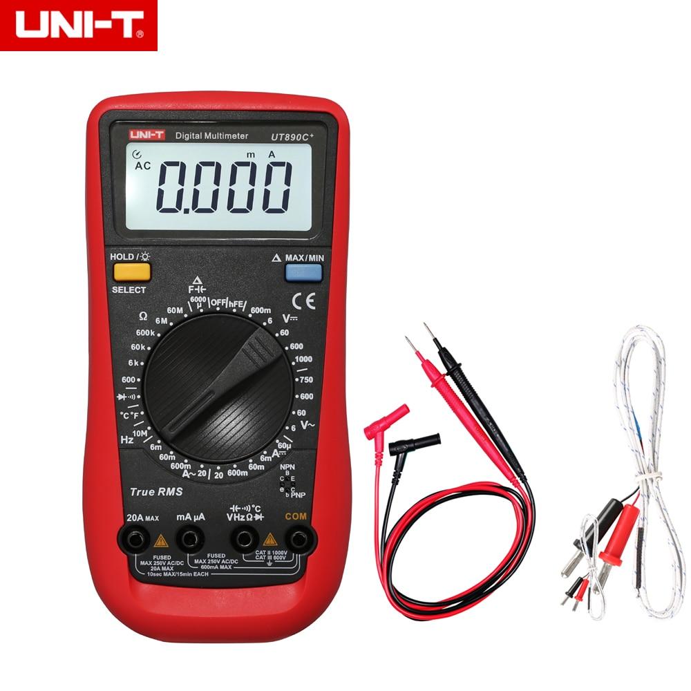UNI-T 3 5/6 Digital Multimeter UT890C+ True RMS with 100mF Capacity High-Precision Frequency Multimeter Temperature Measurement professional victor vc890c digital multimeter true rms multimeter 2000uf capacitor temperature measurement