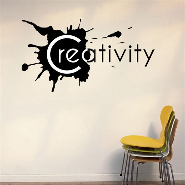 Great Creativity Wall Lettering Words Removable Office Room Decor Decal Vinyl  Quote Wall Sticker Home Decoration Living