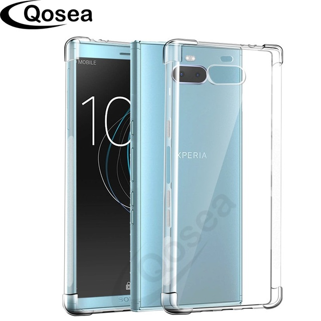 online store 43402 3cb8d US $2.13 50% OFF|For Sony Xperia 10 Plus Phone Case Ultra thin Silm  Silicone Soft TPU For Sony Xperia 10 Transparent Protective Back Cover  capa-in ...