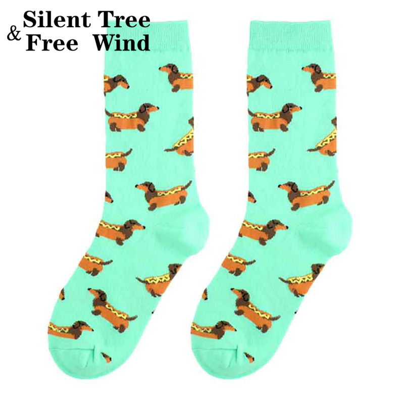 Funny Women Dachshund Crew   Socks   Novelty Fashion Hot Dog Pet Puppy Cartoon Cotton   Sock   For Lovers
