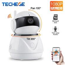 Techege 1080 P беспроводной проводной камера двухстороннее аудио Wi Fi Smart Security телеметрией 2MP камера видеонаблюдения камеры скрытого видеонаблюдения удаленного вид